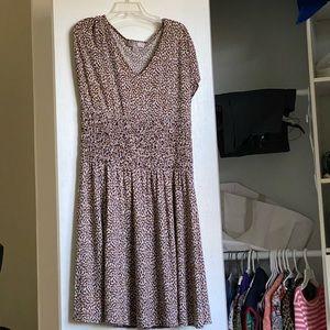 Laddie free flow leopard print comfortable dress